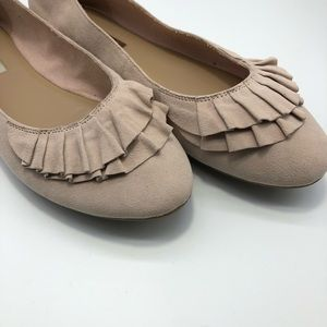 Audrey Brooke Leather Pale Pink Ballet Flat 11